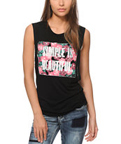 Starling Mia Simple Is Beautiful Muscle Tee