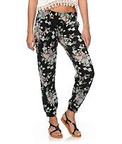 Starling Vintage Floral Jogger Pants