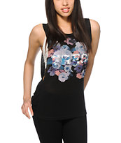 Starling Zoey Floral Mesh Muscle Tee
