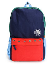 State Garfield Navy and Red Backpack