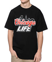 State Of Mind IL Chicago Life Black Tee Shirt