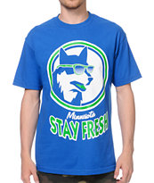 State Of Mind Stay Fresh Wolf Blue Tee Shirt