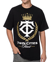 State Of Mind Twin Cities Finest Black & Gold Tee Shirt