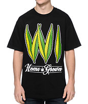 State Of Mind WI Home Grown Black Tee Shirt