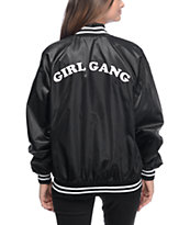 Stay Cute Girl Gang Black Bomber Jacket