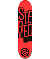 Stereo Stacked Red 7.75 Skateboard Deck