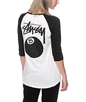 Stussy 8 Ball Baseball Tee