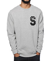 Stussy Applique Crew Neck Sweatshirt