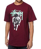 Stussy Astronaut Burgundy T-Shirt