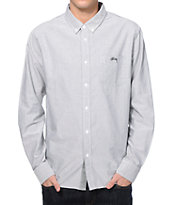 Stussy Bad Boy Oxford Long Sleeve Button Up Shirt