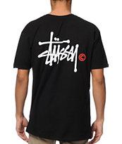 Stussy Basic Logo Black T-Shirt