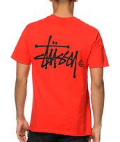 Stussy Basic Logo Red T-Shirt