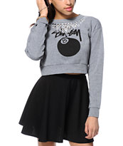 Stussy Bling Cropped Crew Neck Sweatshirt
