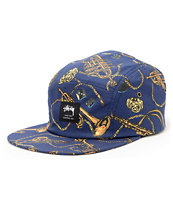Stussy Brass Camp Blue 5 Panel Hat