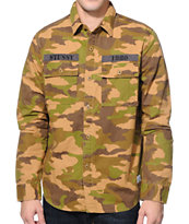 Stussy Camo Long Sleeve Button Up Shirt