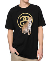 Stussy Cheetah Link 2 Black Tee Shirt