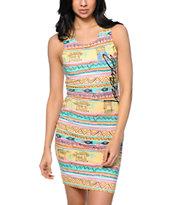 Stussy Chongo Multicolor Print Dress