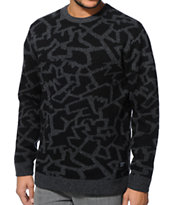Stussy Cracked Black Sweater