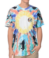 Stussy Dot Blue & Rasberry Tie Dye Tee Shirt