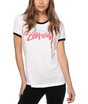 Stussy Fade Ringer T-Shirt