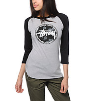 Stussy Flower Dot Baseball Tee