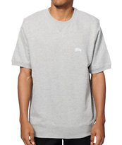 Stussy French Terry Short Sleeve Crew Neck Sweatshirt