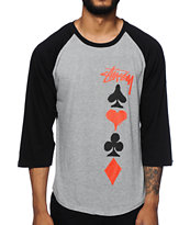Stussy Full Deck Baseball T-Shirt