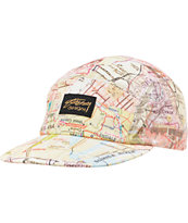 Stussy Girls Tour Map Yellow Camper 5 Panel Hat