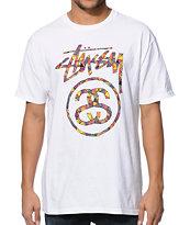 Stussy Glass Link White T-Shirt