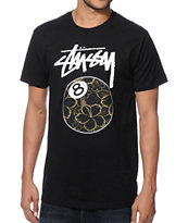 Stussy Gold Flake 8 Ball Tee Shirt