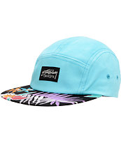 Stussy Hawaiian Black & Mint Camp 5 Panel Hat