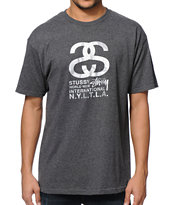 Stussy International Charcoal Tee Shirt