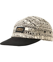 Stussy Jibberish Cream Camper 5 Panel Hat