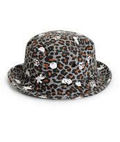 Stussy Leopard Logo Bucket Hat