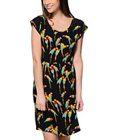 Stussy Macaw Black Twist Back Dress