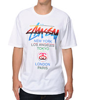 Stussy Mexican Blanket White Tee Shirt