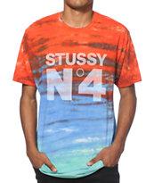 Stussy No 4 Tie Dye T-Shirt
