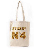 Stussy No. 4 Leopard Print Tote Bag
