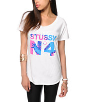Stussy No. 4 Tie Dye Football T-Shirt