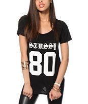 Stussy Old E Stussy 80 Football T-Shirt