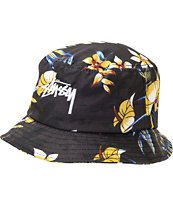 Stussy Paradise Black Bucket Hat