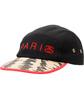 Stussy Paris Stax Black 5 Panel Hat