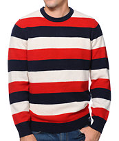 Stussy Phat Stripe Navy Sweater