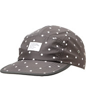 Stussy Polka Dot Black Camper 5 Panel Hat