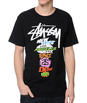 Stussy Pop Black Tee Shirt