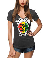 Stussy Rasta Roots V-Neck T-Shirt