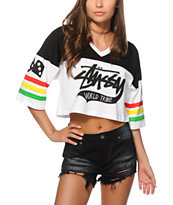 Stussy Roots V-Neck Crop Top