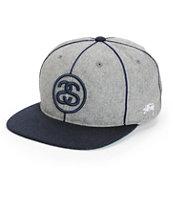 Stussy SS Link Melton Snapback Hat