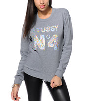 Stussy Sequin Crew Neck Sweatshirt