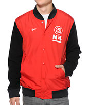 Stussy Stadium Red Polar Varsity Jacket